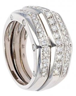 Audemars Piguet 18ct White Gold Diamond Interlocking Set of 2 Rings