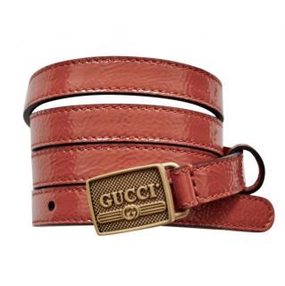 Gucci Patent Leather Skinny Waist belt