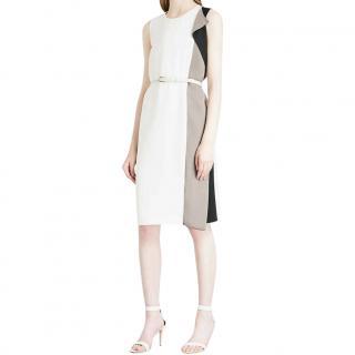 Max Mara Colourblock Ruffle Dress