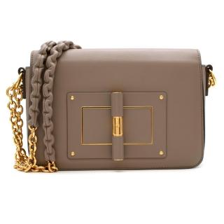 Tom Ford Taupe Small Chain Natalia Shoulder Bag