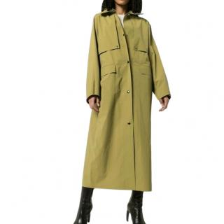 KASSL Editions Button Down Midi Trench Coat
