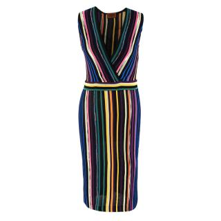 Missoni Multicolor Striped Knit Sleeveless Dress