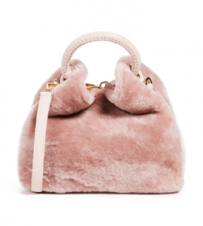 Elleme Pink Shearling Baozi Bag