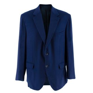 Donato Liguori Navy Wool Blend Hand Tailored Jacket