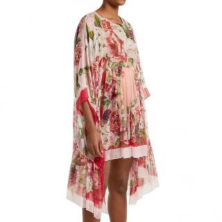 Dolce & Gabbana Floral Print Pink Kaftan Dress