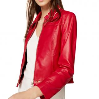 Uterque Studded Leather Jacket