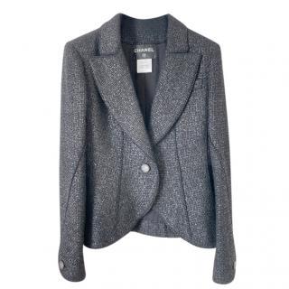 Chanel Black Wool Blend Tweed Tailored Jacket
