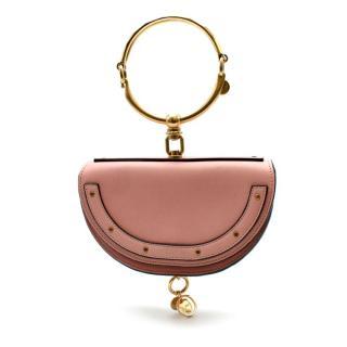 Chloe Pink Leather Nile Minaudiere Crossbody Bag