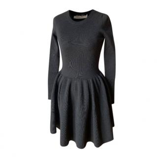 Dior Black Wool Knit Skater Dress