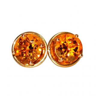 William & Son 18ct Yellow Gold Citrine Earrings