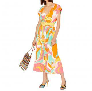 Emilio Pucci Printed Rivera Midi Skirt