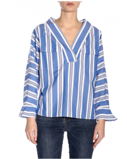Stella Jean Blue Striped Blouse