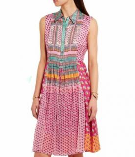 Diane Von Furstenberg Nieves Floral Print Sleeveless Silk Dress