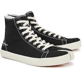 Maison Margiela Tabi black canvas hi-top sneakers
