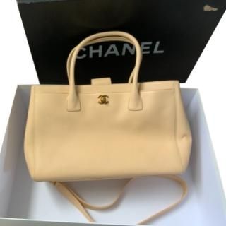 Chanel Nude Leather Executive Cerf Tote Bag