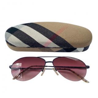 Burberry Pink Classic Aviator Sunglasses