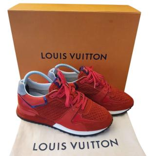 Louis Vuitton Red Suede Run Away Trainers