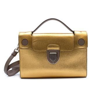 Dior Gold Leather Diorever Shoulder Bag