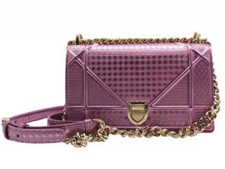 Dior Metallic Small Diorama Shoulder Bag in Lilac