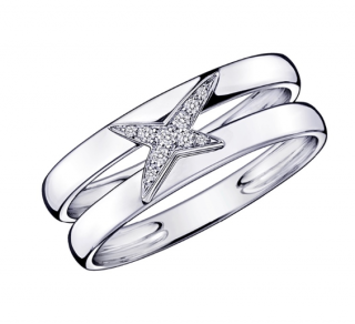 Maboussin 18ct White Gold Etoilement Divine Ring