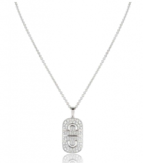 Bvlgari White Gold Diamond Pendant Necklace