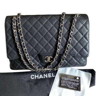 Chanel Black Caviar Leather Maxi Flap Bag