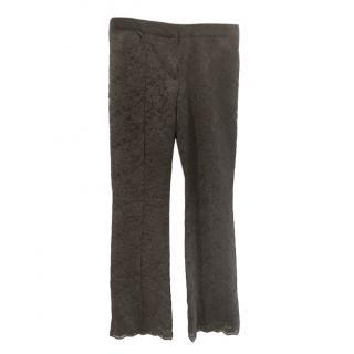 Alexander McQueen Black Lace Pants