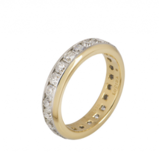 Tiffany & Co. Yellow Gold Diamond Eternity Ring