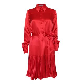 Matthew Williamson Red Runway Silk Shirt Dress