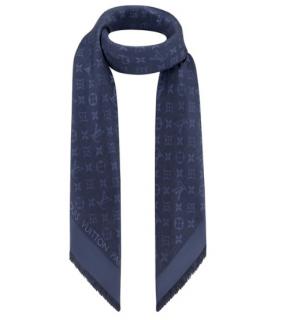 Louis Vuitton Navy Blue Monogram Shawl