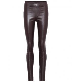 Helmut Lang Calla Brown Leather Leggings