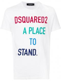 DSquared2 Mens White Slogan T-Shirt