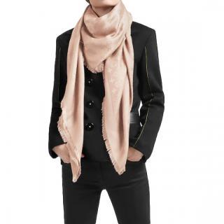 Louis Vuitton Natural Silk & Wool Monogram Scarf