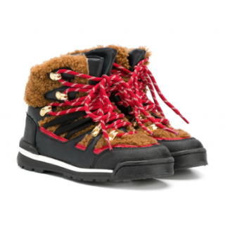 Stella McCartney Kids faux shearling hiking boots