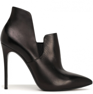 Casadei Metallic Leather Blade Ankle Boots