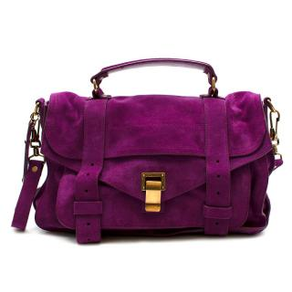 Proenza Schouler Purple Suede PS1 Medium Satchel Bag