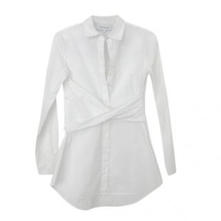 Derek Lam 10 Crosby White Crossover Shirt