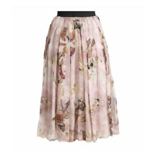Dolce & Gabbana A-Line Cherub Print Skirt