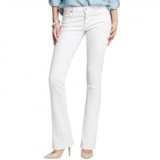 Citizens of Humanity White Ingrid Stretch Jeans