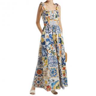 Dolce & Gabbana Sicily Print Sleeveless Jumpsuit