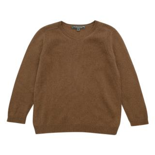Bonpoint Brown V Neck Cashmere Sweater