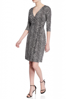 Diane Von Furstenberg Printed Silk Jersey Julian Wrap Dress