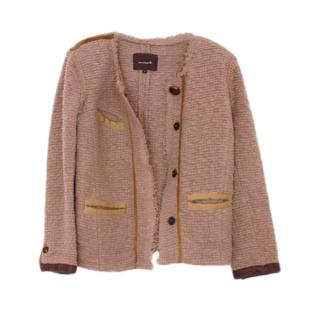 Isabel Marant Taupe Wool Blend Knit Jacket