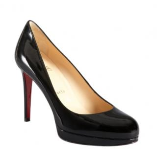 Christian Louboutin Black Patent Round Toe Pumps