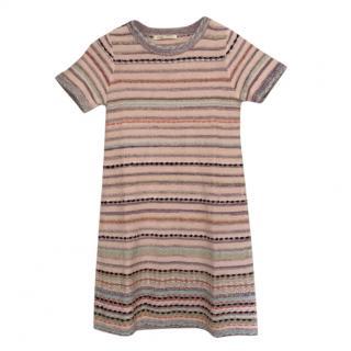 Maje Striped Knit Multicoloured Mini Dress