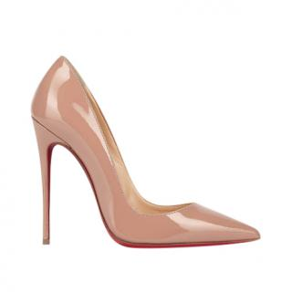 Christian Louboutin Nude 120mm Patent Pumps