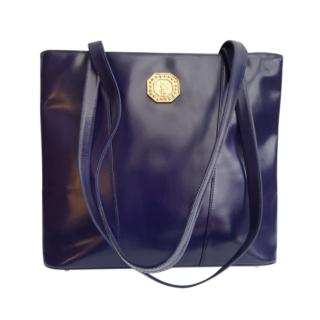 Yves Saint Laurent Violet Leather Shoulder Bag