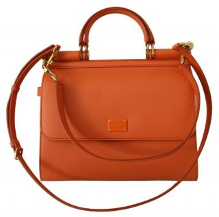 Dolce & Gabbana Orange Leather Sicily Bag