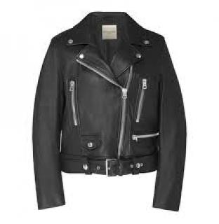 Each x Other Black Leather Biker Jacket