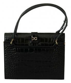 Dolce & Gabbana Croc Embossed Ingrid Handbag